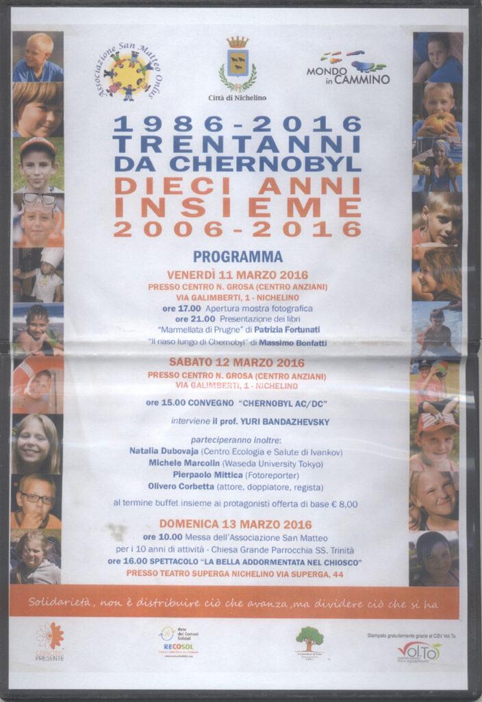 1986 - 2016: TRENT'ANNI DA CHERNOBYL